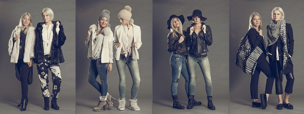 Mode Mosaik Startcollage Models Outfits